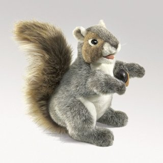 Folkmanis Eichhörnchen, grau